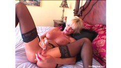 Huge tits blonde MILF fucked hard and deep on couch Thumb