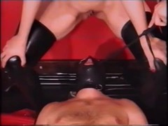 a male rubber slave has to do what his mistress orders.mp4 Thumb