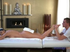 Massage Rooms Creampie fucking for sexy Romanian Thumb