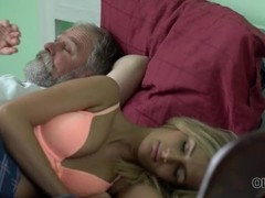 OLD4K. Beauty takes part in passionate sex with handsome old dad Thumb