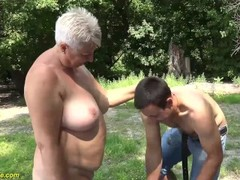 69 years old bbw grannie outdoor banged Thumb